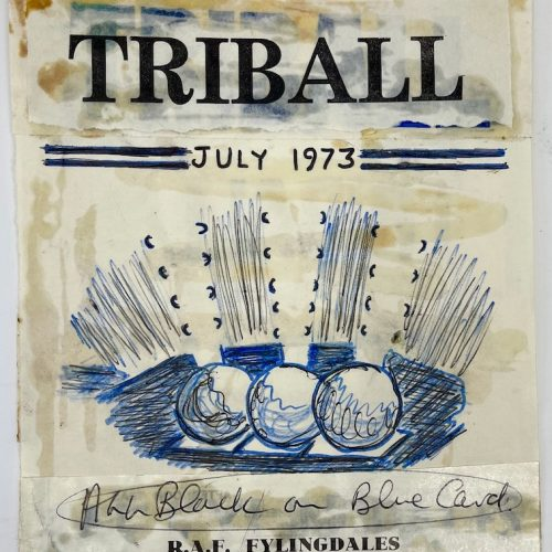 TRIBALL July 1973 hand drawn front cover design
