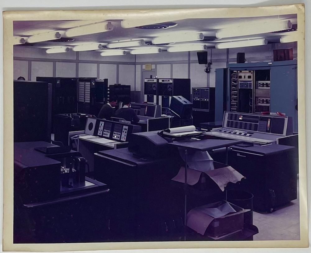 Dennis Wompra Studios Collection, Missile Impact Predictor room (M.I.P) IBM 7090