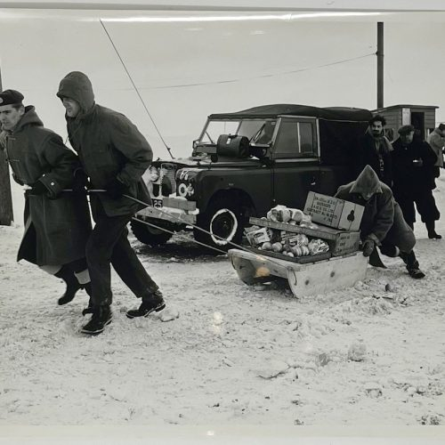Dennis Wompra Studios Collection, RAF Fylingdales in the snow 1962