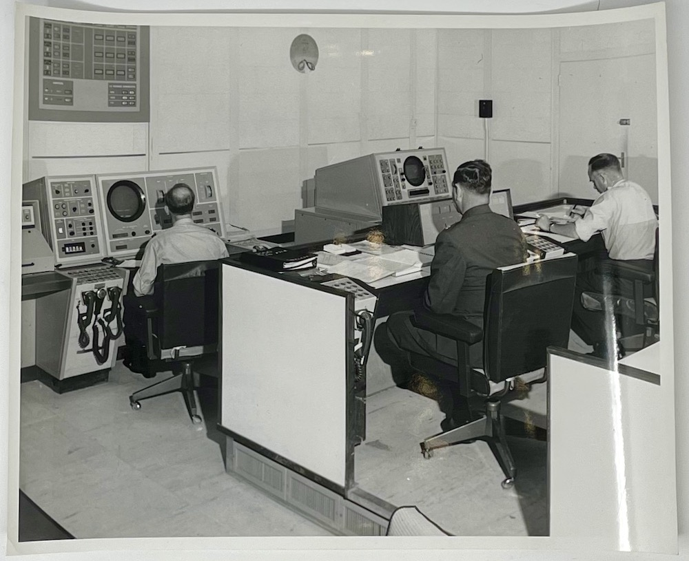 Dennis Wompra Studios Collection, view of control room 6 August 1963