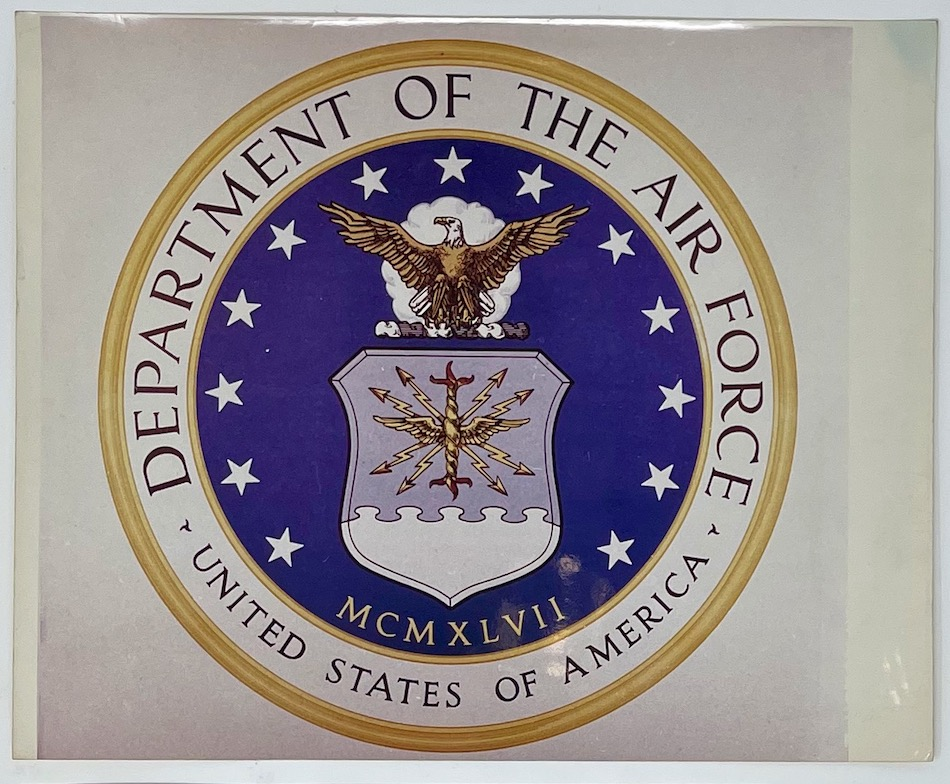Dennis Wompra Studios Collection. Image of emblem of United States of America Department of the Airforce