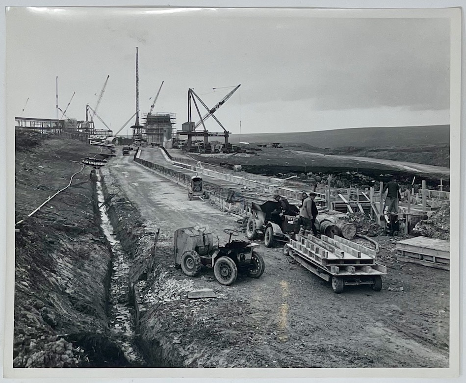 Dennis Wompra Studios Collection, building work for foundations of the access tunnel
