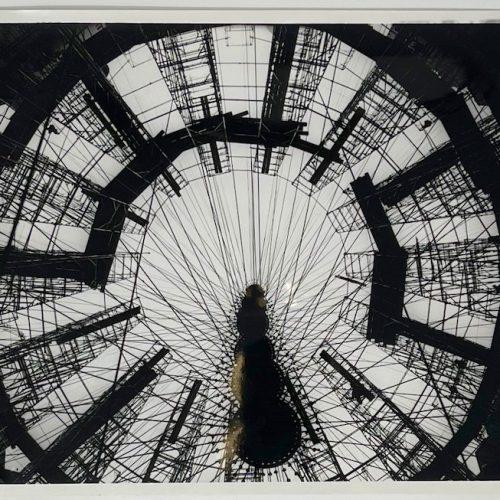 Dennis Wompra Studios Collection, close up view of radome scaffolding interior